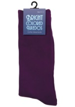 Men's Purple Tuxedo Socks