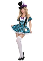 Sultry Checkered Mad Hatter Costume