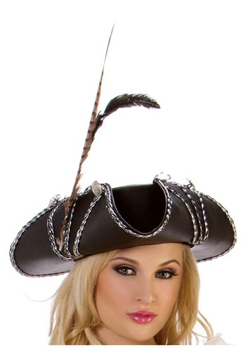 Ladies Rouge Pirate Hat