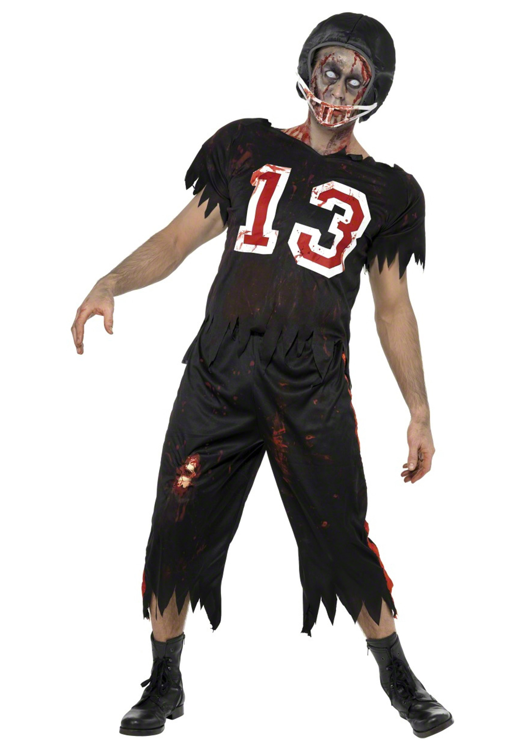 Zombie Football Player Costume Sports Costumes Scary