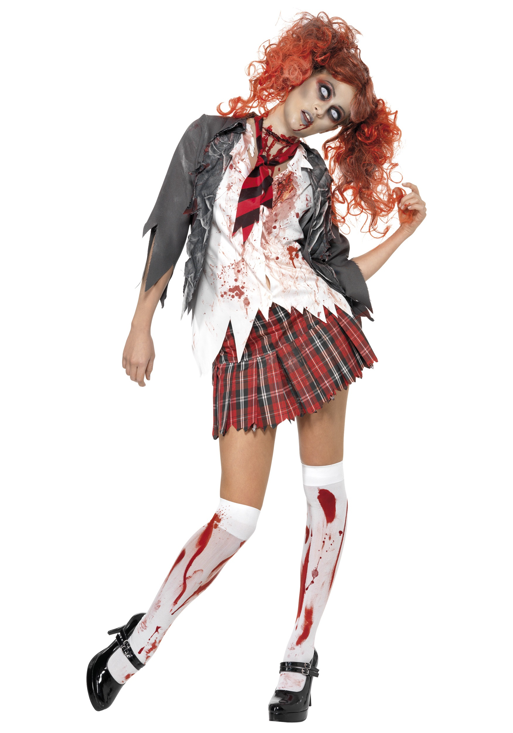 womens school girl zombie costume