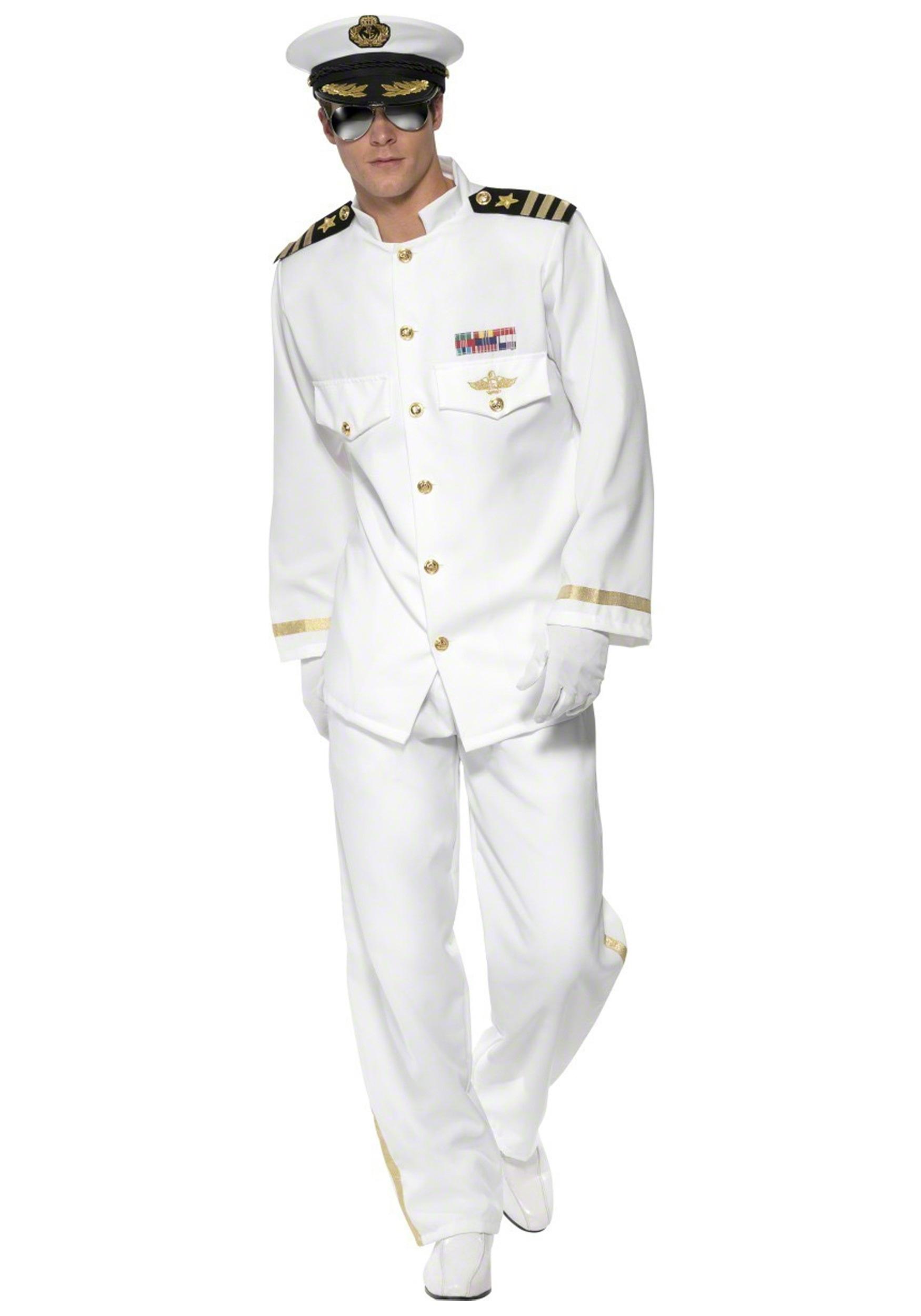 182e8663690cc Mens Deluxe Captain Costume - Navy Uniform Costumes
