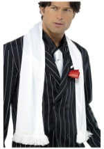 White Retro Gangster Scarf