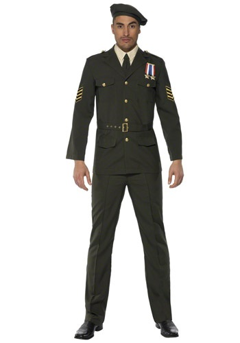 Mens Wartime Officer Uniform Costume