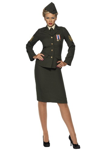 Womens Sexy WWII Officer Costume