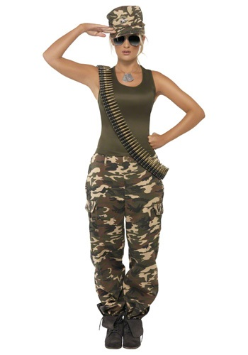 Female Camouflage Army Costume