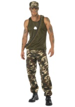 Male Green Camo Costume