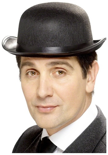 Black Retro Bowler Hat