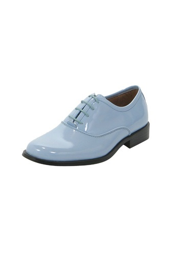 Baby Blue Tux Shoes
