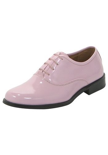 Mens Pink Tuxedo Shoes