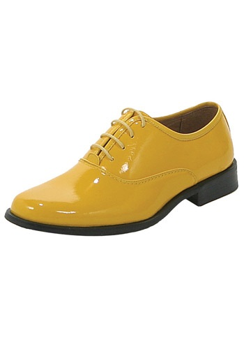 Mens Yellow Tuxedo Shoes