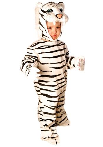 Little White Striped Tiger Costume
