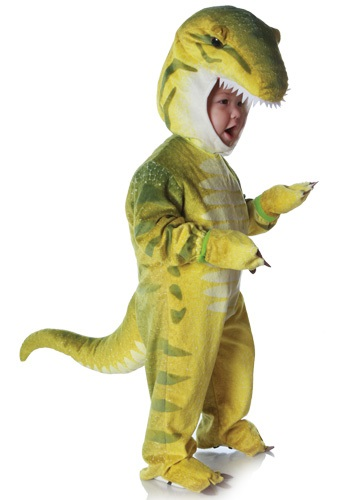 Kids Little Green T-Rex Costume