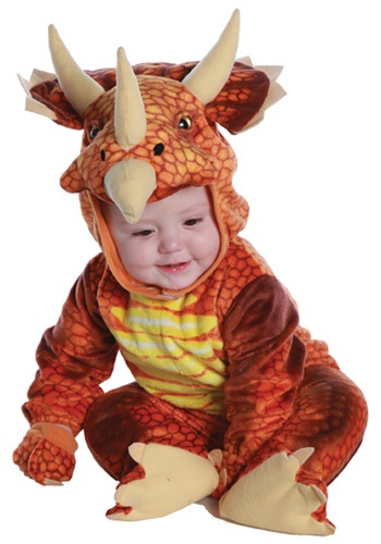 Infant/Toddler Fiery Triceratops Costume