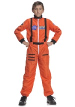 Boys Orange Space Astronaut Costume