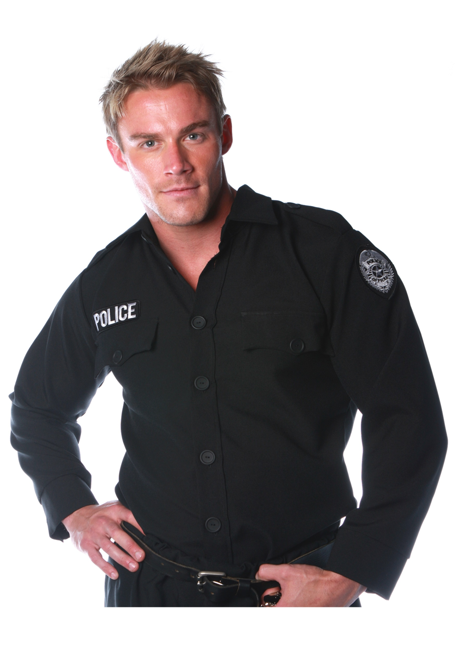 Police Costume Shirt  sc 1 st  Halloween Costume & Police Costume Shirt - Adult Cop u0026 Police Officer Halloween Costumes