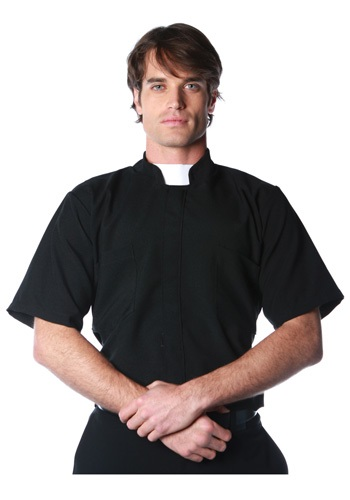 Plus Classic Black Priest Shirt