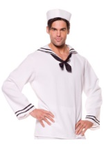 Mens White Sailor Shirt