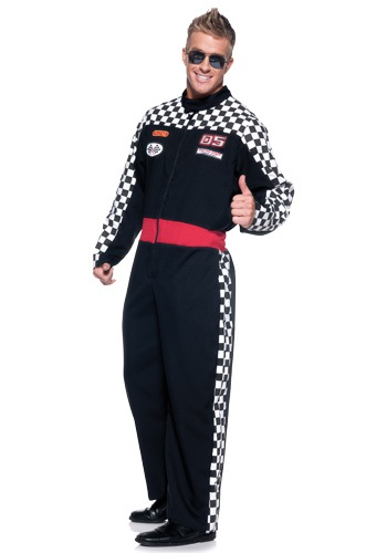 Plus Size Mens Race Car Driver Costume