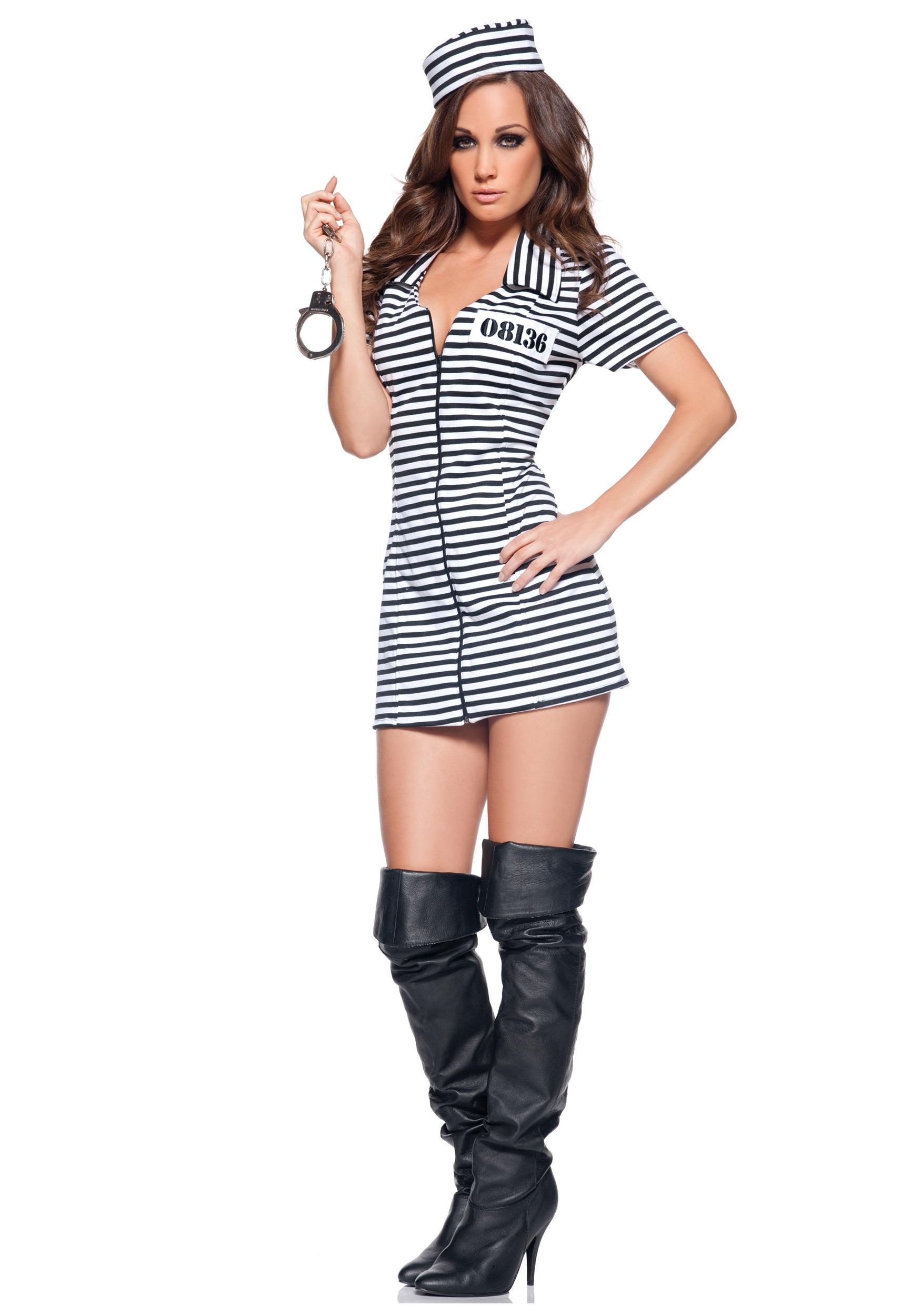 Miss Behaved Convict Costume  sc 1 st  Halloween Costume & Miss Behaved Convict Costume - Ladies Prisoner Costume Ideas