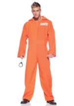 Men's Plus Size Orange Prison Jumpsuit