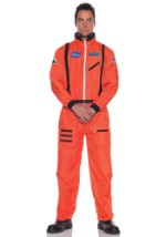 Mens Orange Space Suit Astronaut Costume