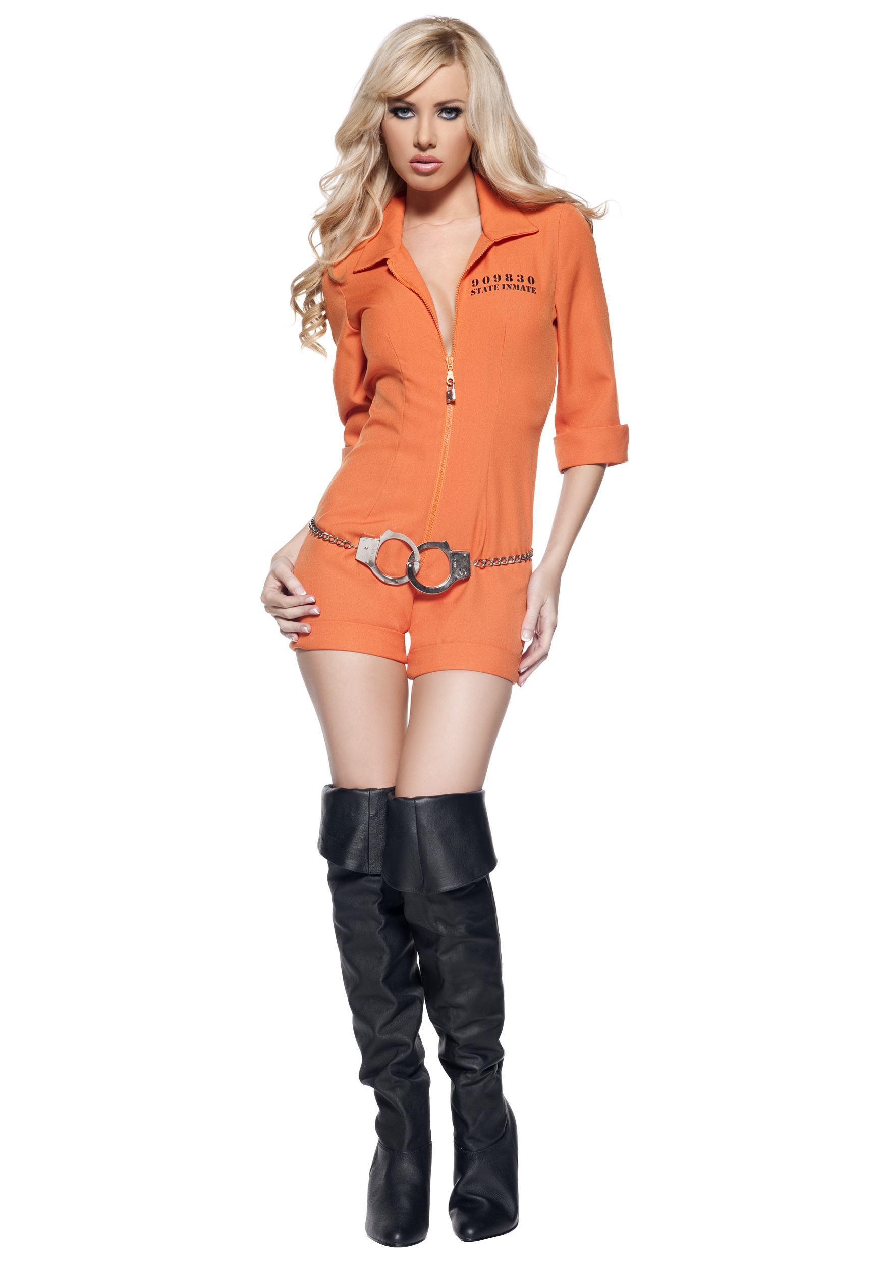 Ladies Inmate Jumpsuit  sc 1 st  Halloween Costume : cop and inmate costumes  - Germanpascual.Com