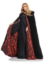 Deluxe Velvet Red Lined Goth Cape