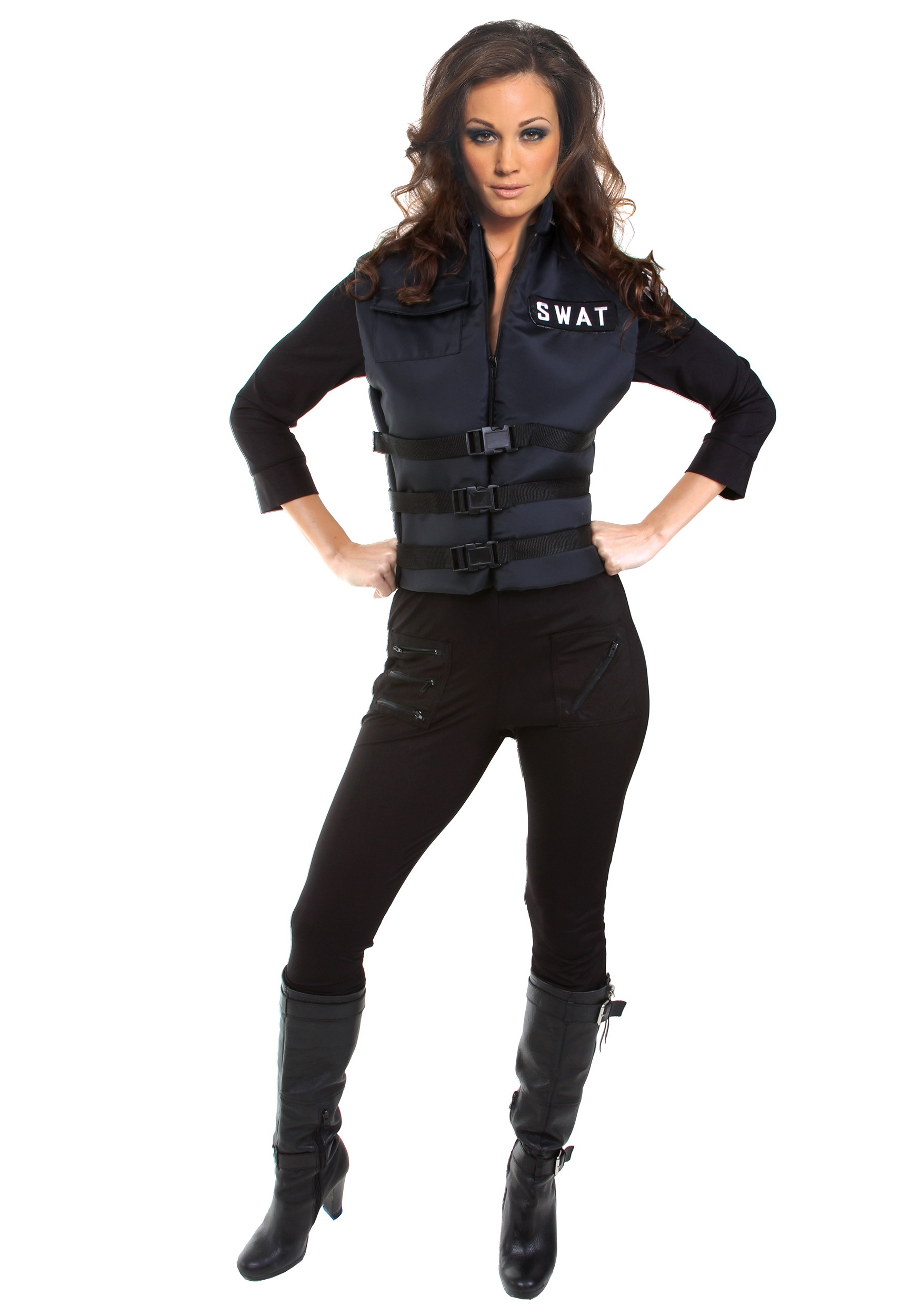 Seductive SWAT Girl Costume  sc 1 st  Halloween Costume & Seductive SWAT Girl Costume - Womenu0027s Sexy Police Officer Costume Ideas