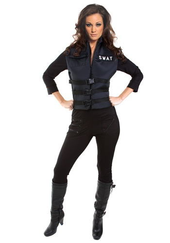 Seductive SWAT Girl Costume
