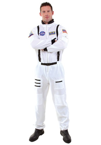 Adult White Astronaut Space Costume
