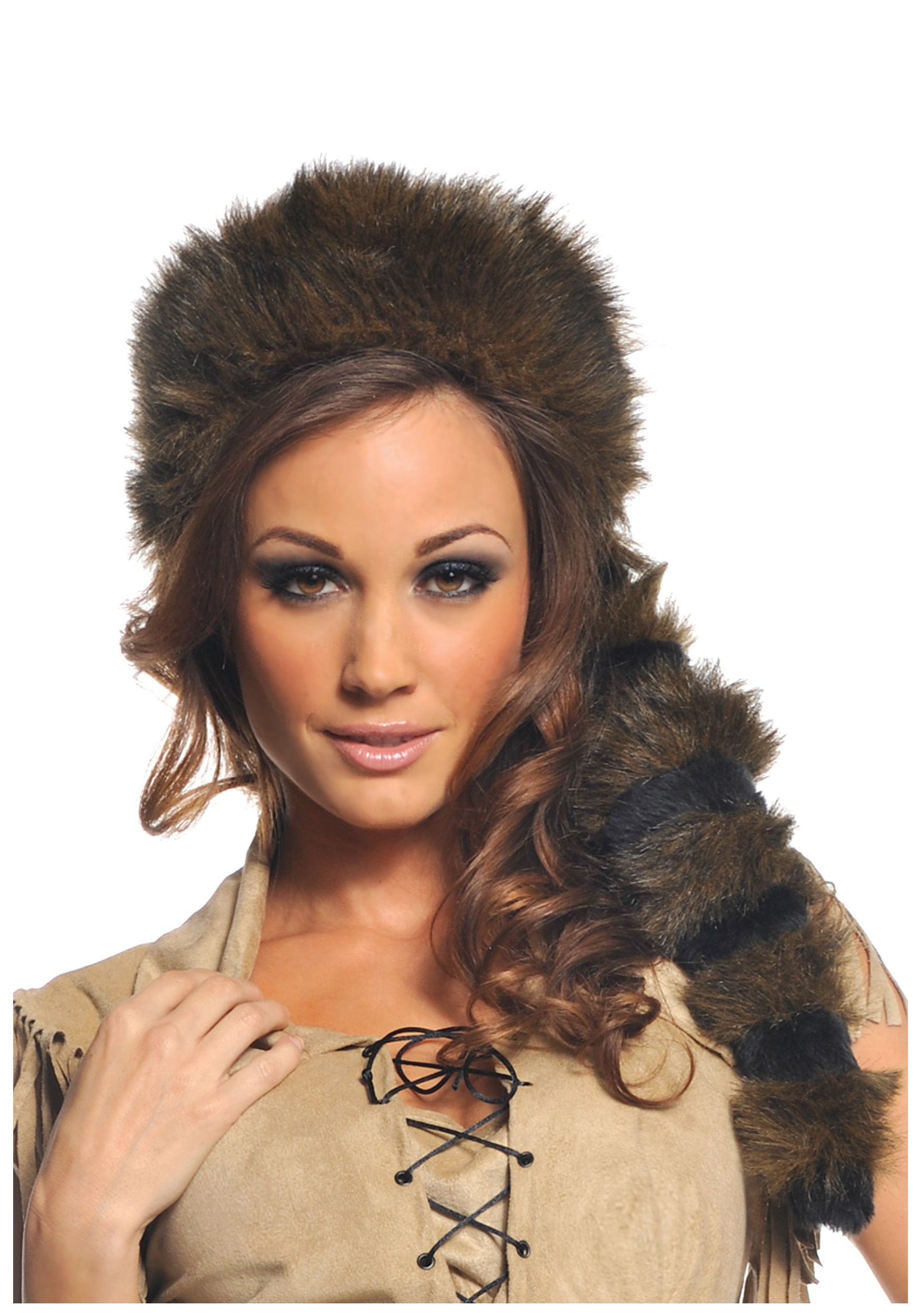 be99f9d4e89 Colonial Frontier Raccoon Tail Hat - Historical Coonskin Cap Accessory