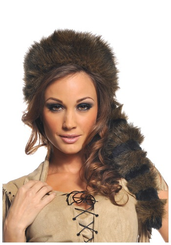 Colonial Frontier Raccoon Tail Hat