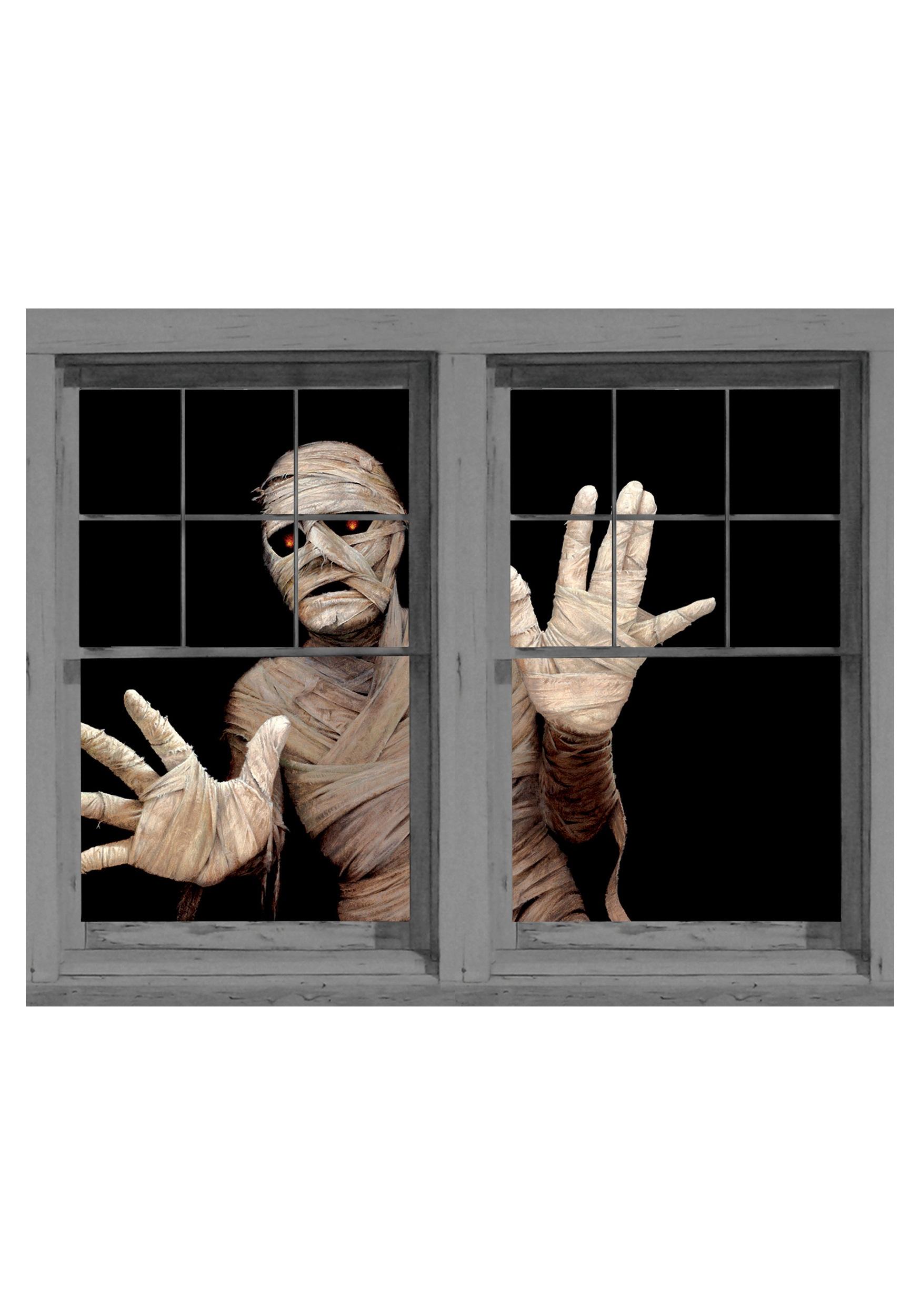 Egyptian Mummy Window Cling Scary Window Decorations