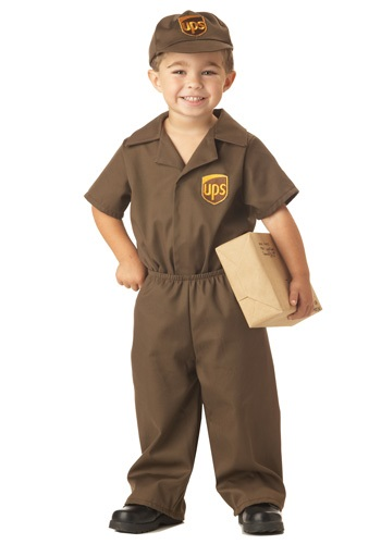 Lil UPS Delivery Guy Costume