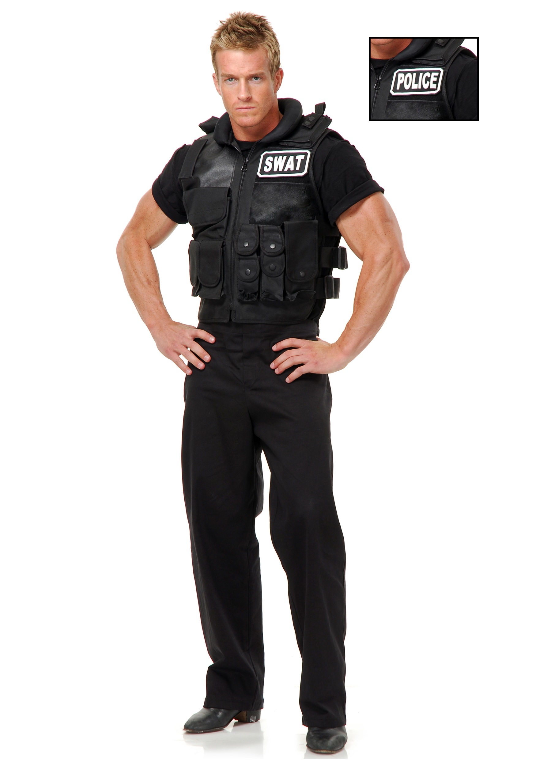 SWAT Officer Vest  sc 1 st  Halloween Costume : cop costume male  - Germanpascual.Com
