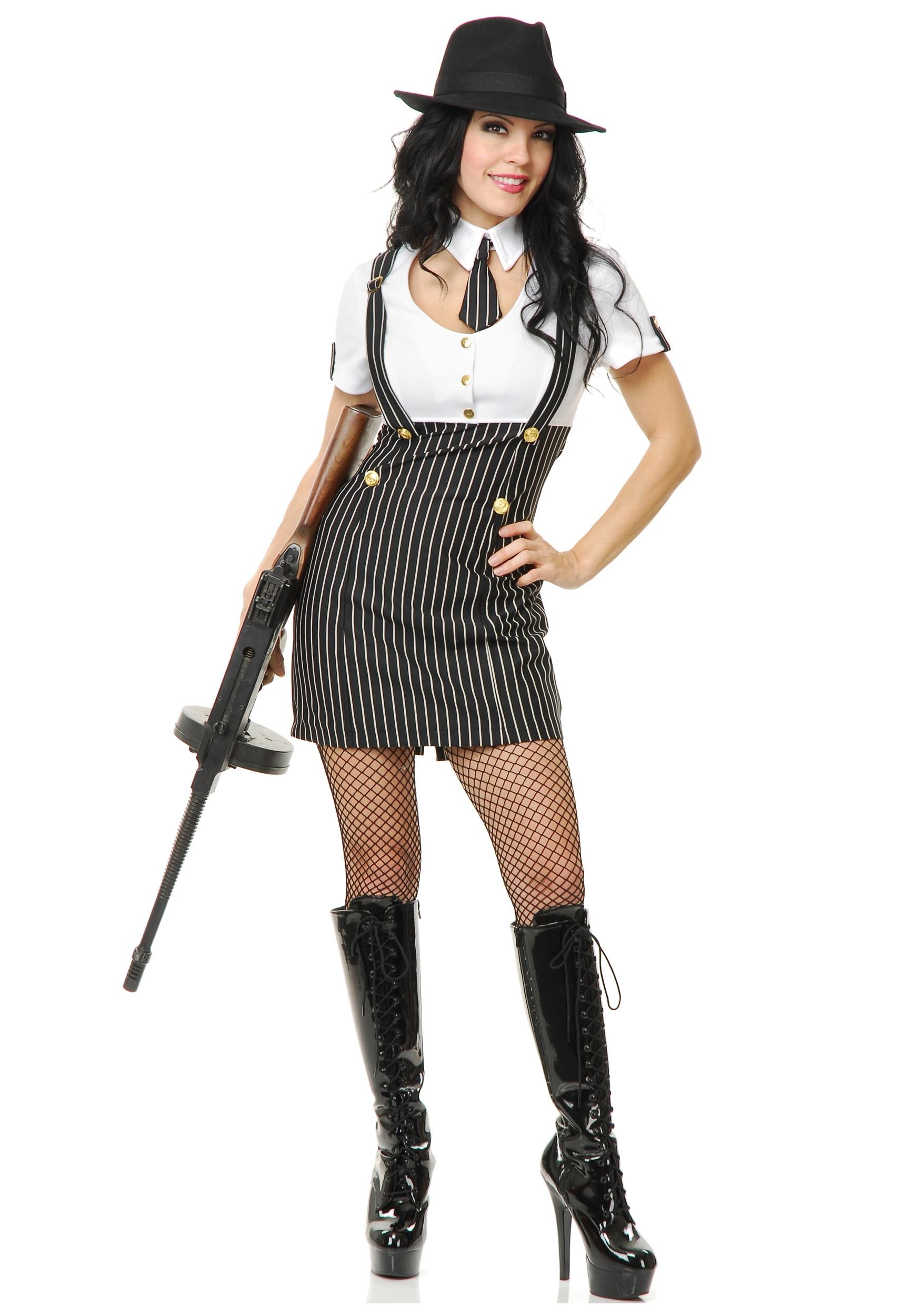 Retro Gangsta Girl Costume  sc 1 st  Halloween Costume & Retro Gangsta Girl Costume - Mobster Costumes for Women
