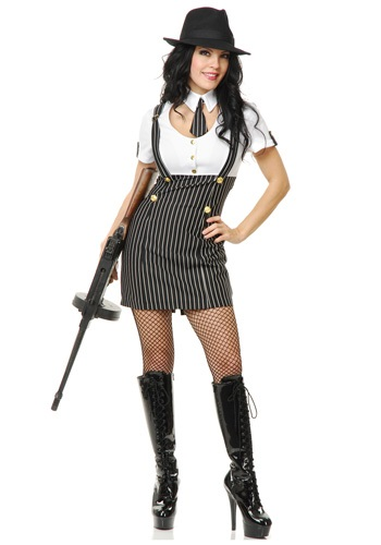 Retro Gangsta Girl Costume