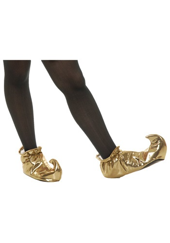 Gold Pointed Toe Genie Shoes