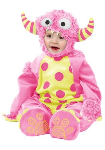 Infant/Toddler Pink Mini Monster Jumpsuit