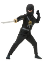 Child Black Karate Master Costume