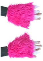 Ladies Hot Pink Claw Hand Covers