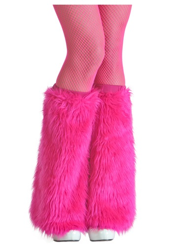 Ladies Fuschia Furry Boot Covers