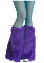 Womens Violet Furry Boot Covers