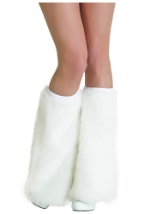 Furry White Boot Covers