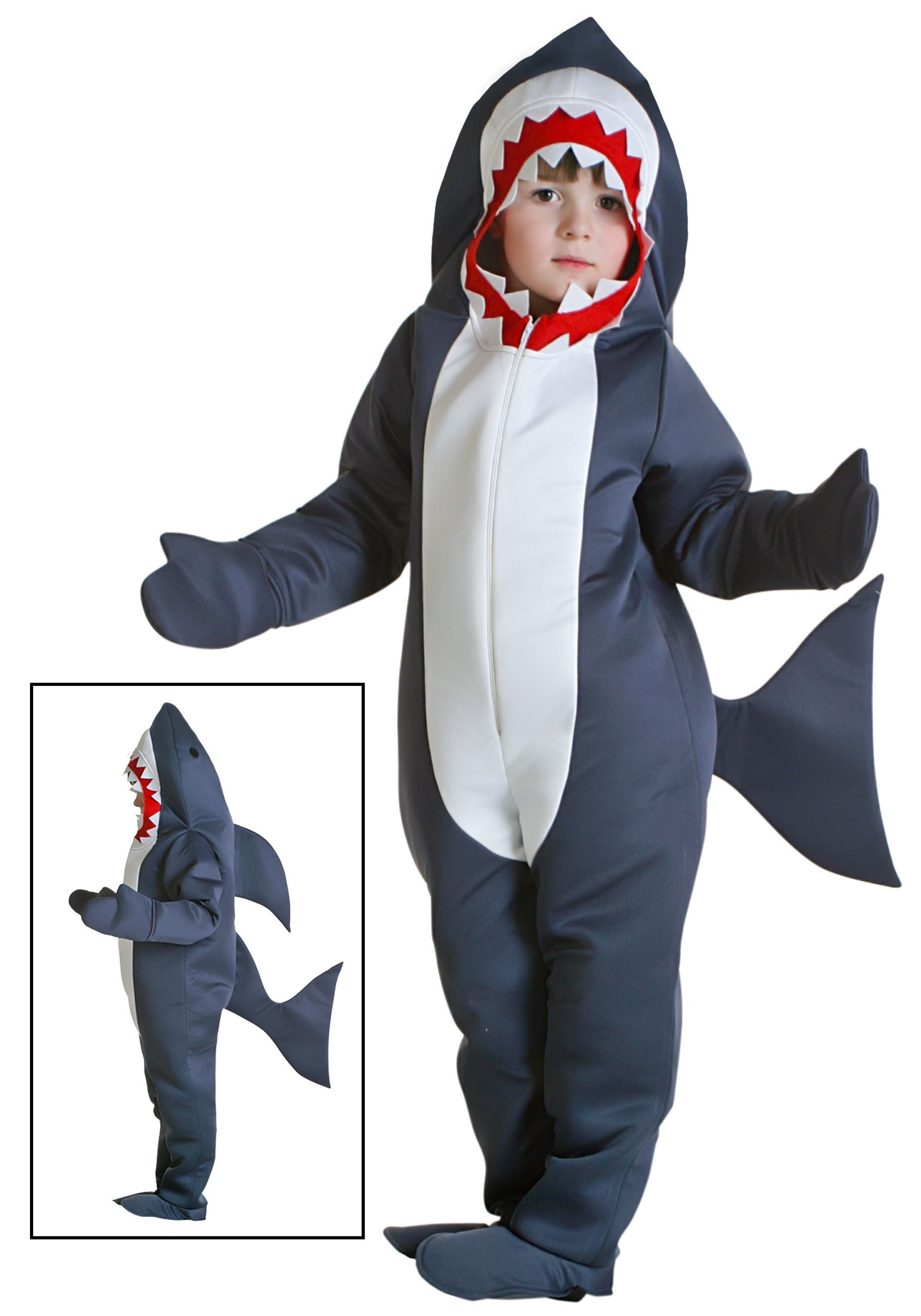 toddler great white shark costume - shark halloween costumes for kids