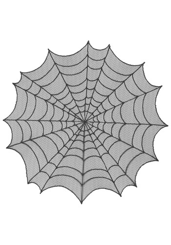 Round Spiderweb Table Topper