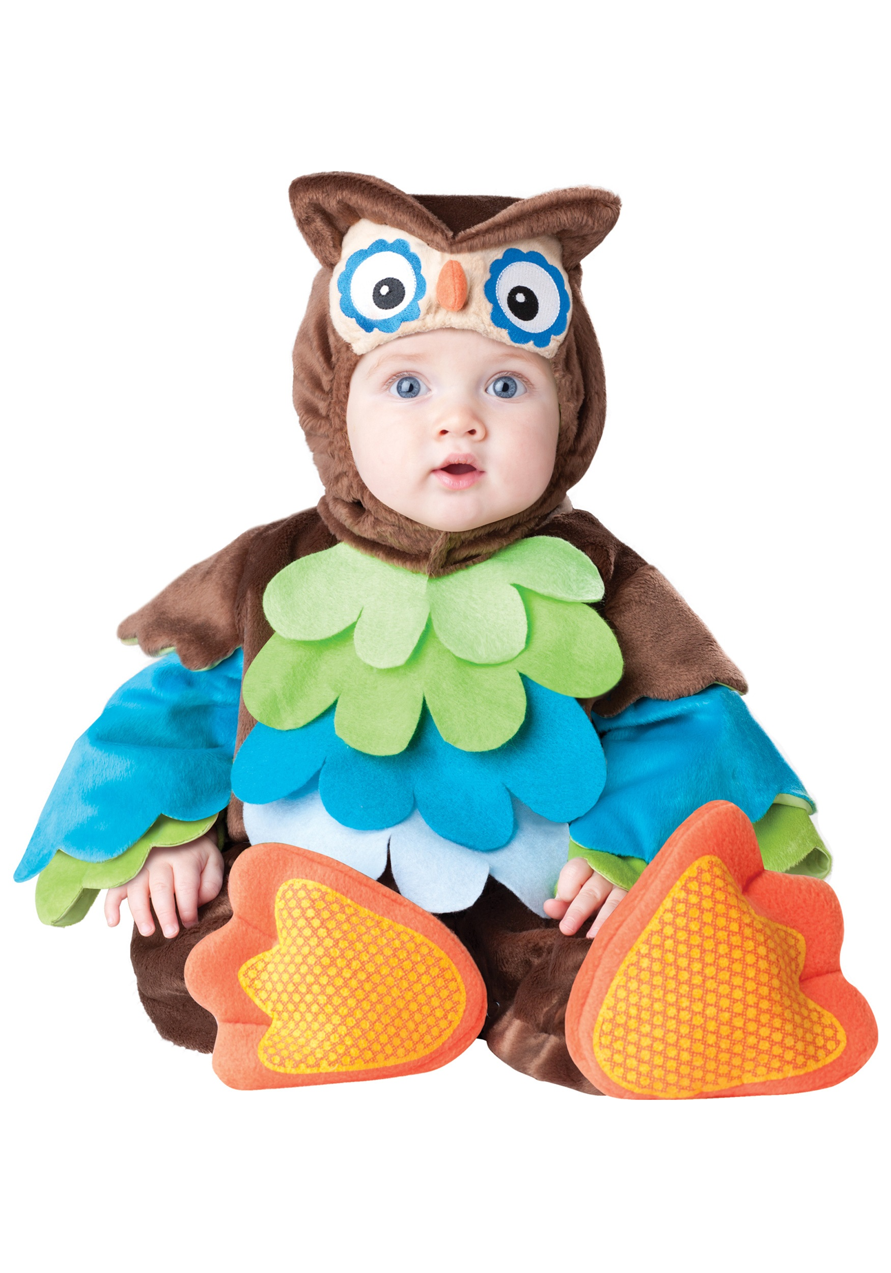 infant colorful owl costume baby animal halloween costume ideas. Black Bedroom Furniture Sets. Home Design Ideas