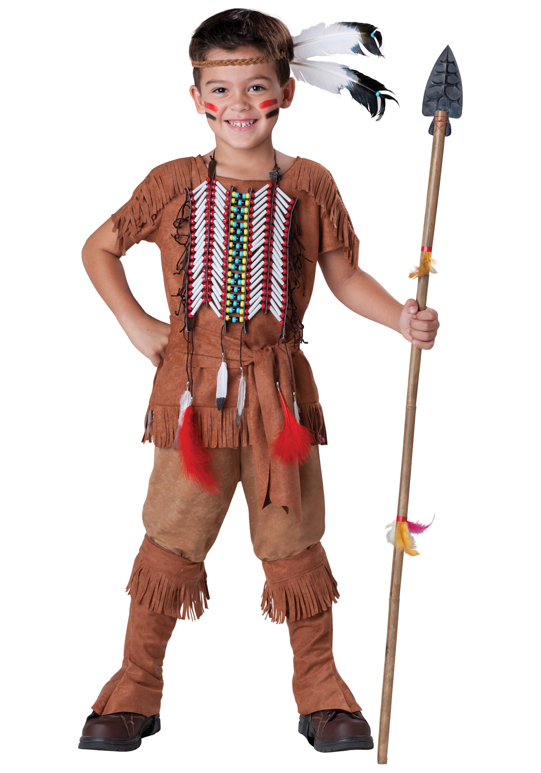 Kids American Indian Brave Costume  sc 1 st  Halloween Costume & Kids American Indian Brave Costume - Boysu0027 American Indian Costume Ideas
