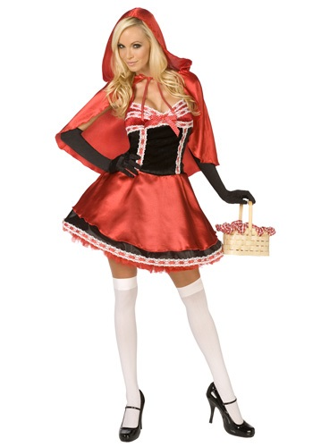 Ladies Hot Red Riding Hood Costume